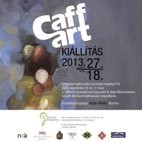 Az én művésztelepi alkotásom is szerepel a Caffart Egyesület tárlatán!
