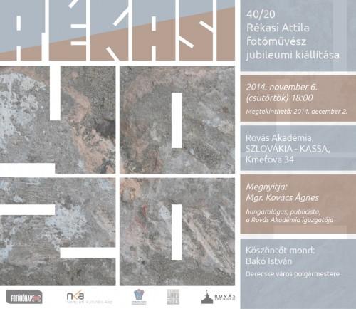40/20 Kassai bemutató kiállítás Rékasi Attila