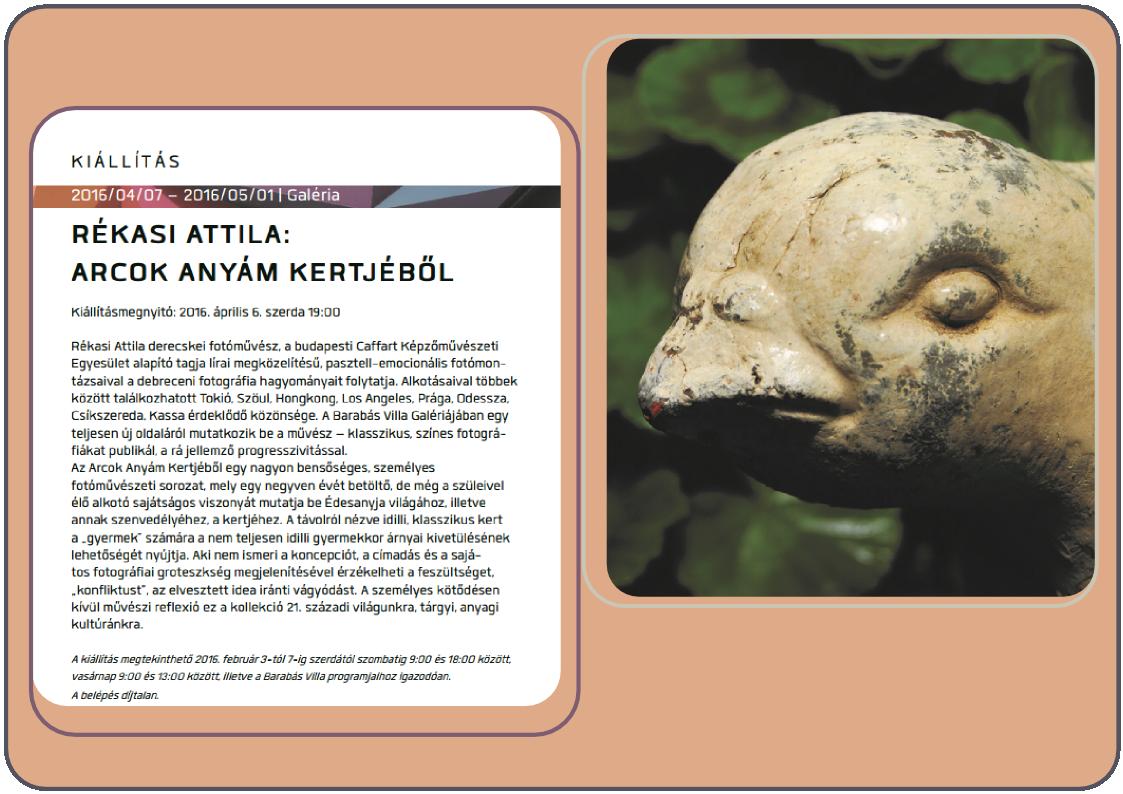 Arcok Anyám Kertjéből | Rékasi Attila fotóművész egyéni kiállítása a Barabás Villa Galériában, Budapesten