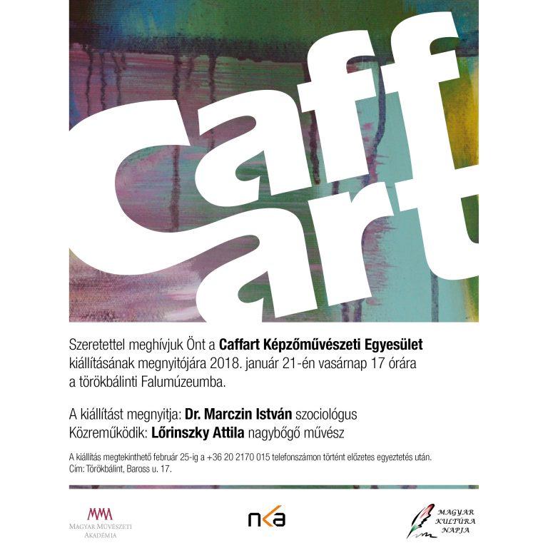 Caffart csoportos kiállítás Rékasi Attila részvételével - Törökbálint